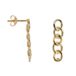BETTY BOGAERS BIG CHAIN STUD EARRING