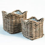 GOMMAIRE SQUARE POT BASKET NICOLAS SET OF 2