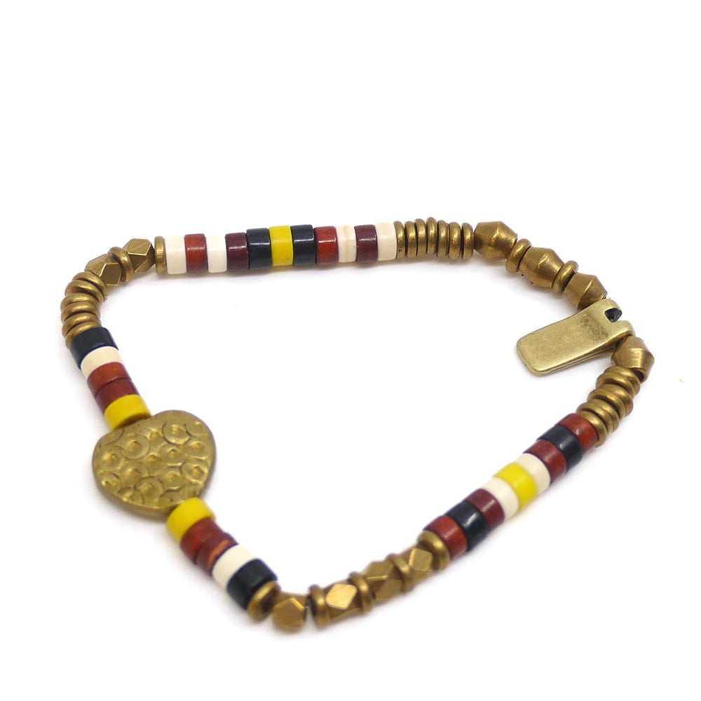 INDOCHINE COLLECTION KINSHASA HEART BRACELET YELLOW