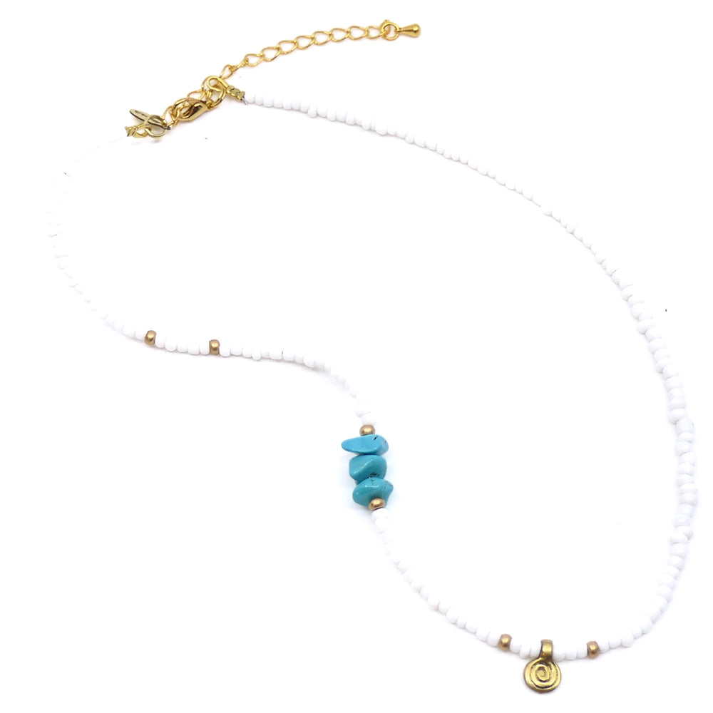 MIMARSE LILY NECKLACE-WHITE