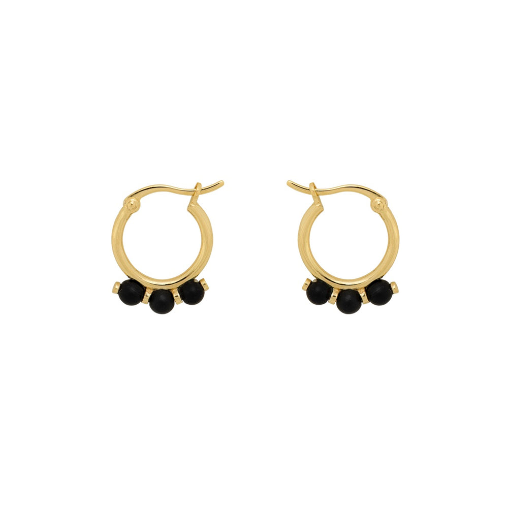 ANNA + NINA ONYX RING EARRING