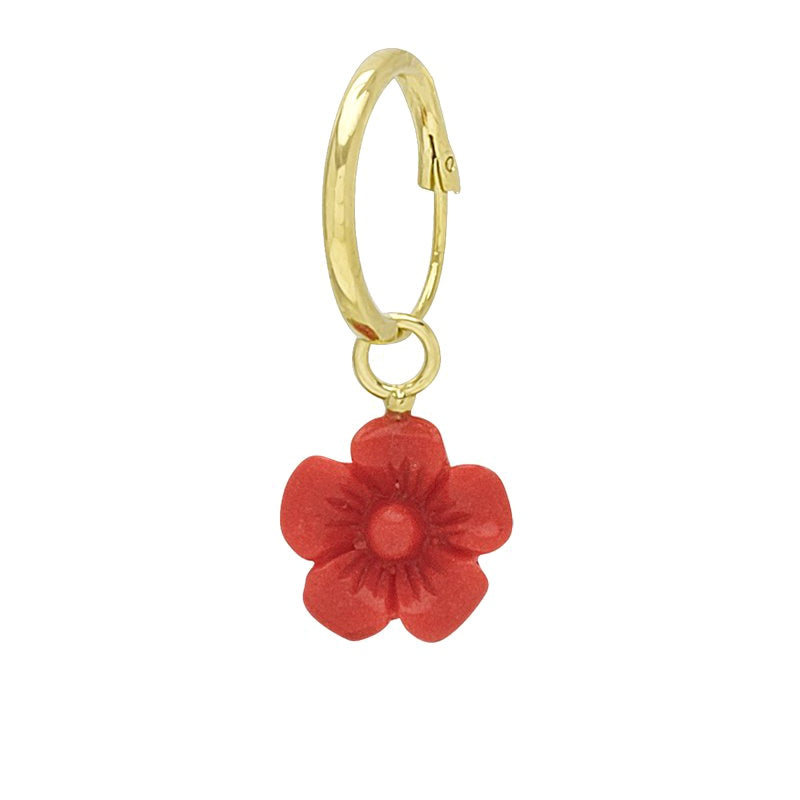 WILDTHINGS CORAL FLOWER EARRING