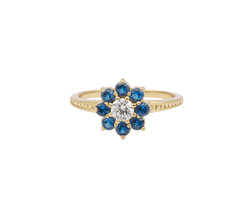 RING FLOWER BLUE