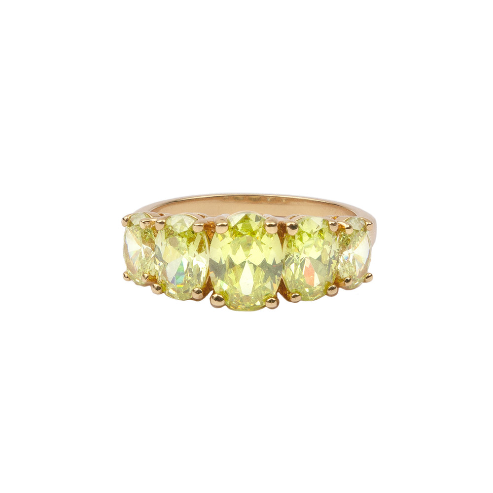 RING OVALS LIME