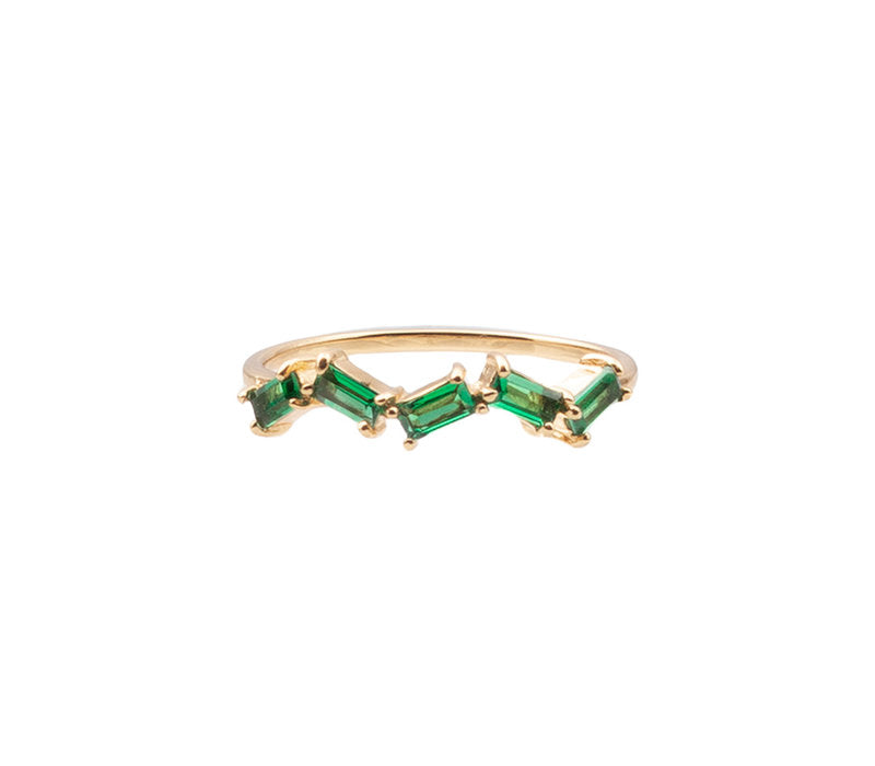 RING ZIGZAG GREEN