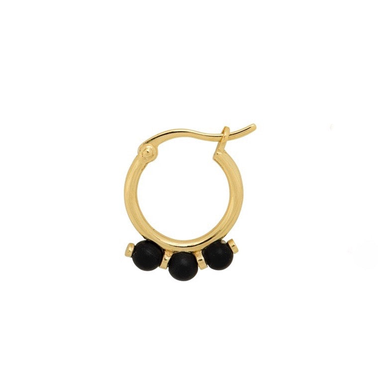 ONYX RING EARRING
