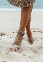 WILDTHINGS BLUE FLOWER ANKLET