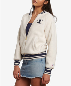 Champion LIFE Women Sherpa Full Zip Jacket in Quartz Cream in Size XS - BrandsForLess.CO