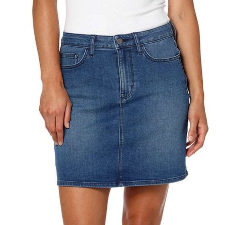 Calvin Klein Jeans Women 5 Pocket Style Denim Skirt Moonlight Dusk Blue - BrandsForLess.CO