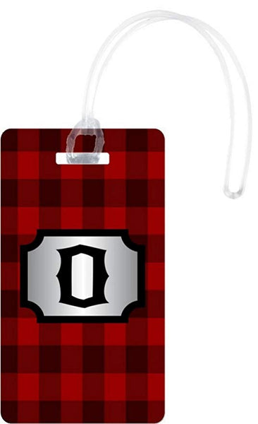 Rikki Knight U Initial Lumberjack Red Burgundy Plaid White - BrandsForLess.CO