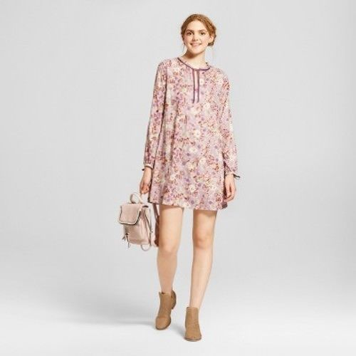 Women Printed Long Sleeve Dress Mossimo Supply Co. - BrandsForLess.CO