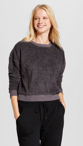 Women Sherpa Pullover Mossimo Supply Co. GRAY - BrandsForLess.CO