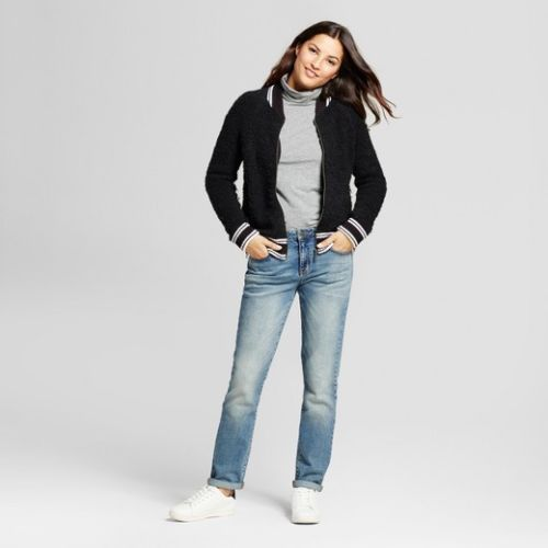 Women Bomber Jacket Sweater A New Day - BrandsForLess.CO