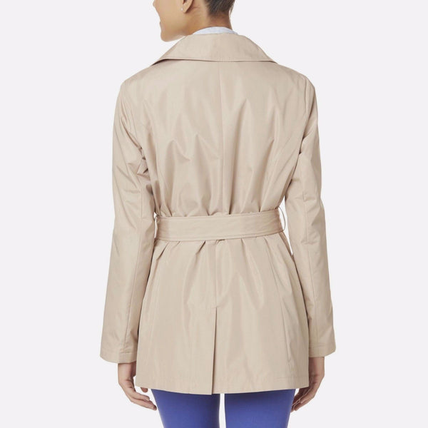 Simply Styled Women Belted Trench Coat Jacket Solid - BrandsForLess.CO