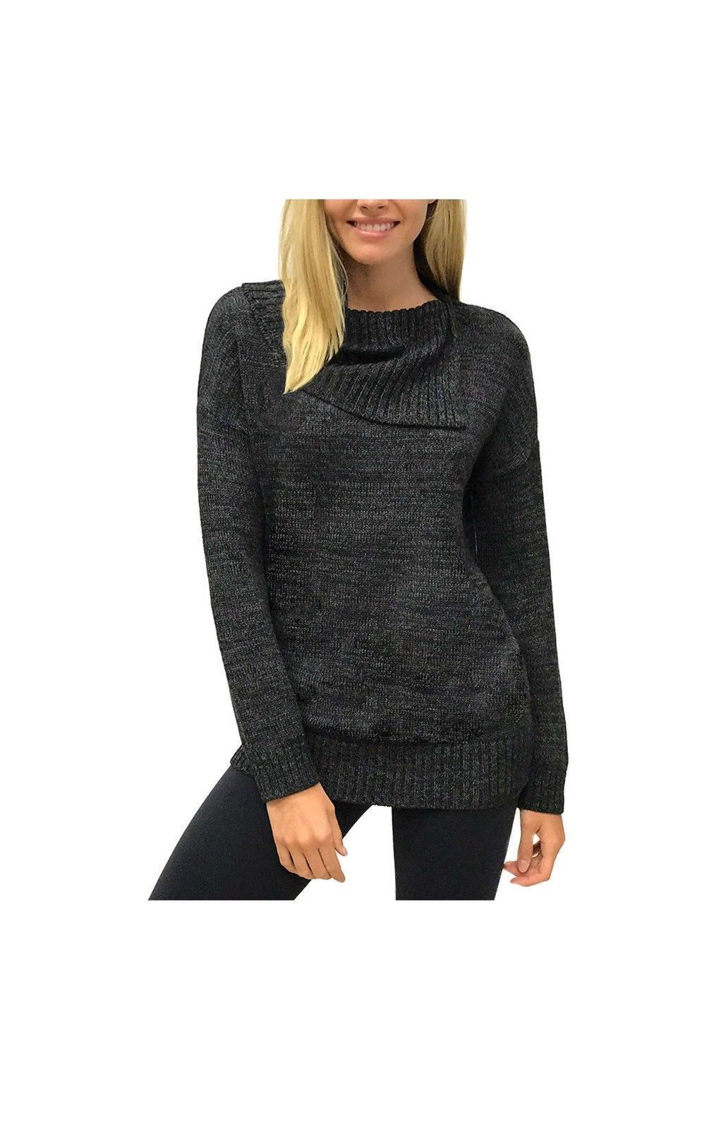 MATTY M Envelope Sweater Size X-Small Charcoal - BrandsForLess.CO