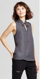 Mossimo Women Ruffle Neck Tank Top - BrandsForLess.CO