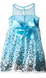 Emerald Sundae Girls Sequin Illusion Dress - BrandsForLess.CO