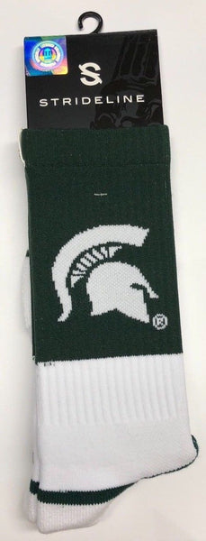 Michigan State Sparty Full Knit Premium Crew Sock NCAA - BrandsForLess.CO