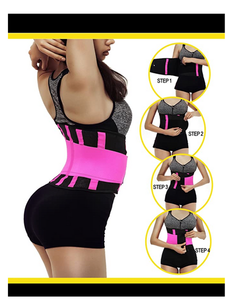 Waist Cincher Trainers Tummy Trimmer Belt Weight Loss Slimming Women Workout Corset, Rose, X-Large - BrandsForLess.CO