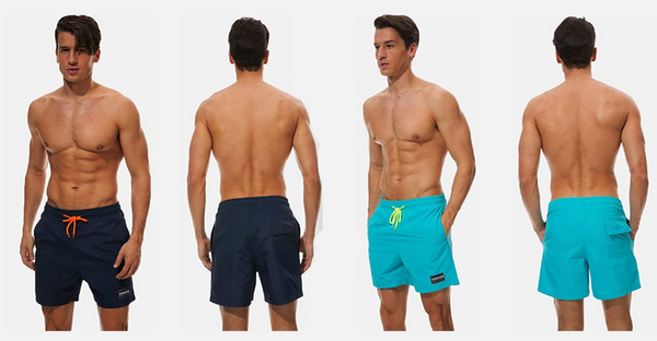 Men Swim Trunk, Beach Shorts Quick Dry Beachwear Summer Sports Shorts for Swimming Surfing Running - BrandsForLess.CO