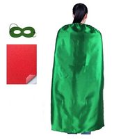 "DIY Superhero Capes for Adult -Party Superhero Costumes Unisex 55"" Inches (Green) - BrandsForLess.CO"