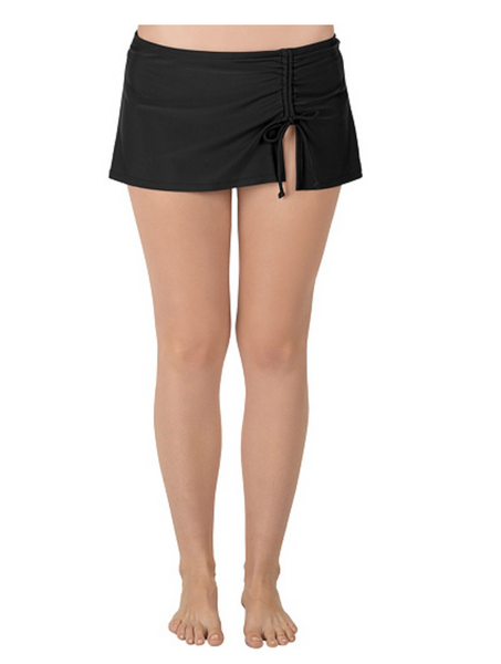 Carole Hochman Classic Swim Skirt Color: Black - BrandsForLess.CO