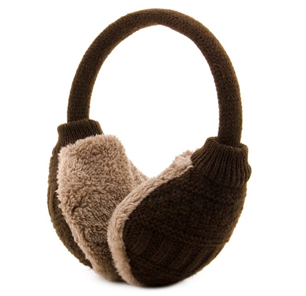 Adult Knitted Removable Warm Winter Earmuffs Coffee, Size: One Size,Knit - BrandsForLess.CO