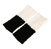 Women Socks Patchwork Splicing Leg Warmers Knit Crochet Boots Cuffs,One Size - BrandsForLess.CO