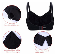 Women Seamless Nursing Bras Wirefree Maternity Bralette for Breastfeeding Black, Size: Medium - BrandsForLess.CO