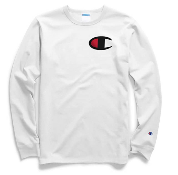 Champion Life Men Heritage Long-Sleeve Tee Color: White Large - BrandsForLess.CO