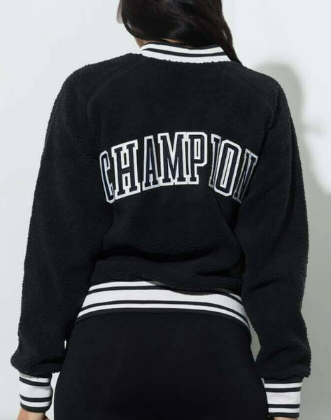 Champion LIFE Women Sherpa Full Zip Jacket in Black - BrandsForLess.CO