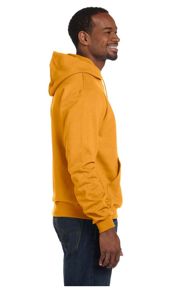 Champion Men Double Dry Action Fleece Pullover Hood C Gold, SMALL - BrandsForLess.CO