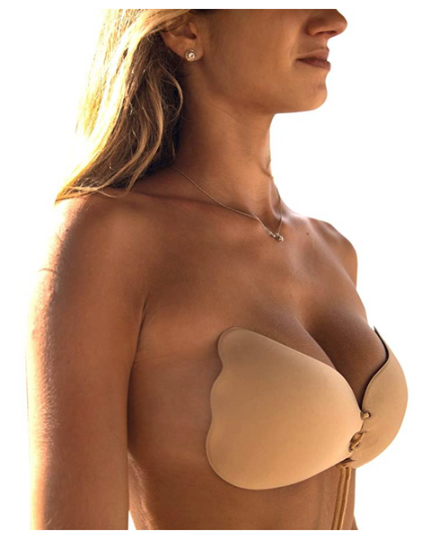 Strapless Adhesive Silicone Bra For Women (B, Beige) - BrandsForLess.CO