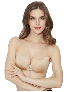 Sticky Bra Self Adhesive Strapless Bras Reusable Backless Bra Size:B, Beige/Nude - BrandsForLess.CO