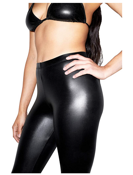 American Apparel Women Metallic Legging in Black - BrandsForLess.CO