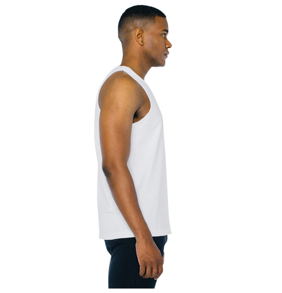 American Apparel Men Heavy Jersey Box Sleeveless Tank, White - BrandsForLess.CO