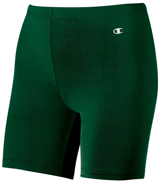 Champion Double Dry Women Compression Shorts, X-Large, Athletic Dark Green