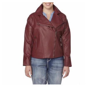 Simply Emma Women Plus Moto Jacket - BrandsForLess.CO