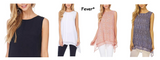Fever Women Double Layer Sleeveless Blouse - BrandsForLess.CO