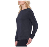 Matty M Women Long Sleeve Tee with Side Zippers - BrandsForLess.CO