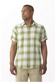 Royal Robbins Men Biscayne Bay Plaid Short Sleeve Top - BrandsForLess.CO