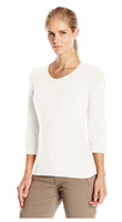 White Sierra Women Tangier 3/4 Sleeve Shirt - BrandsForLess.CO