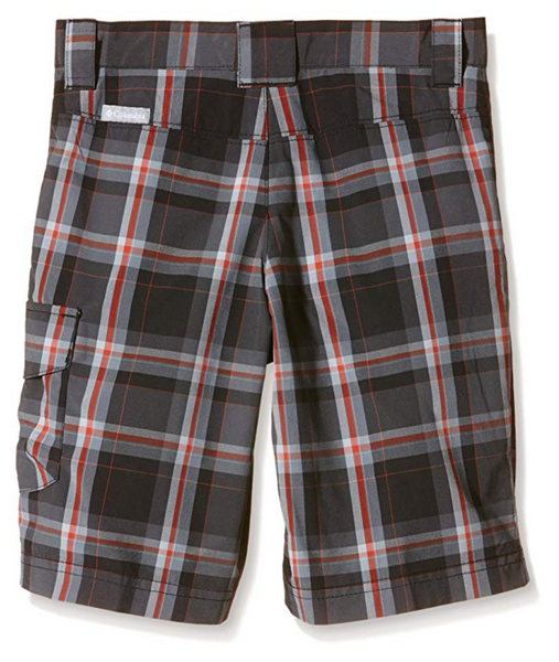 Columbia Boys Silver Ridge III Plaid Short Large Size - BrandsForLess.CO