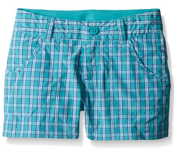 Columbia Girls Silver Ridge III Plaid Short Miami Plaid - BrandsForLess.CO