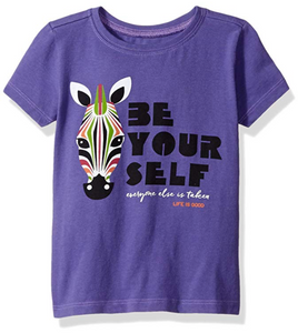 Life is Good Toddler Be You Zebra Tee Blue Violet - BrandsForLess.CO