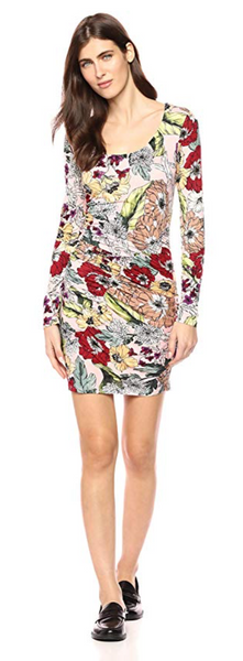 GUESS Women Long Sleeve Cierra Dress - BrandsForLess.CO