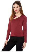 GUESS Women Long Sleeve Cheryl Top - BrandsForLess.CO
