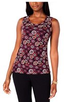 Tommy Hilfiger Women Sleeveless Embroidered Tank Top - BrandsForLess.CO