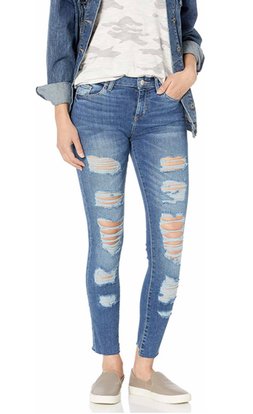 GUESS Women Skinny Ankle Destroyed Jean Size 27 - BrandsForLess.CO