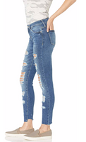 GUESS Women Skinny Ankle Destroyed Jean - BrandsForLess.CO